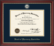 Board of Pharmacy Specialties Certificate Frame - Masterpiece Medallion Certificate Frame in Kensington Gold
