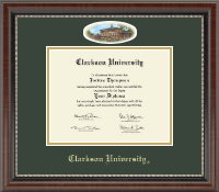 Clarkson University Diploma Frame - Campus Cameo Diploma Frame in Chateau