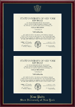 State University of New York  New Paltz Diploma Frame - Double Diploma Frame in Galleria
