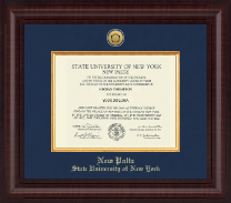 State University of New York  New Paltz Diploma Frame - Presidential Gold Engraved Diploma Frame in Premier