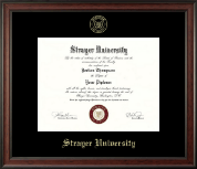 Strayer University Diploma Frame - Gold Embossed Diploma Frame in Studio