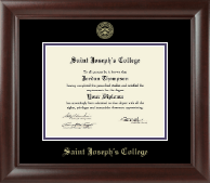 Saint Joseph's College in Indiana Diploma Frame - Gold Embossed Diploma Frame in Rainier