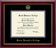 Saint Joseph's College in Indiana Diploma Frame - Gold Embossed Diploma Frame in Gallery