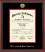 University of South Carolina Diploma Frame - Gold Engraved Medallion Diploma Frame in Signature