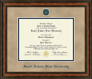 South Dakota State University Diploma Frame - Heirloom Edition Diploma Frame in Ashford