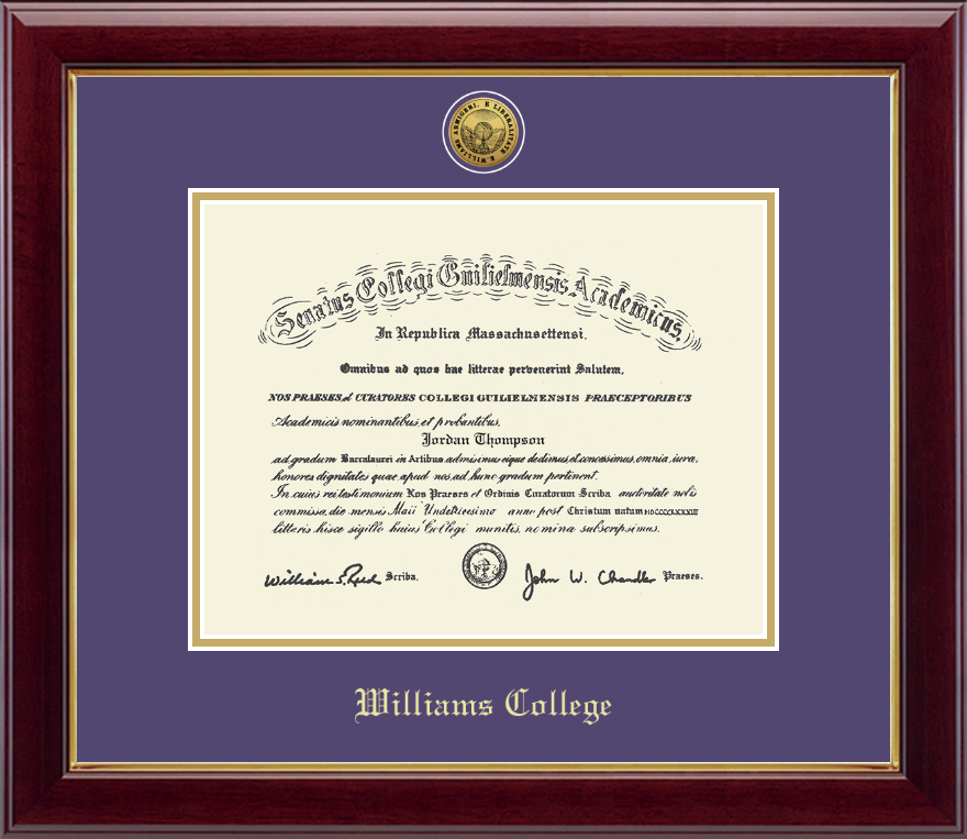 williams college gold engraved medallion diploma frame in gallery item 212831 from williams shop inc