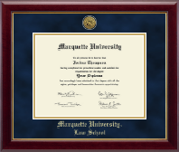 Marquette University Diploma Frame - Gold Engraved Medallion Diploma Frame in Gallery