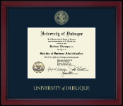 University of Dubuque Diploma Frame - Gold Embossed Achievement Edition Diploma Frame in Academy
