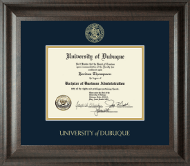 University of Dubuque Diploma Frame - Gold Embossed Diploma Frame in Acadia