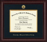 University of Maryland, Baltimore County Diploma Frame - Presidential Gold Engraved Diploma Frame in Premier