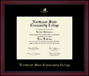 Northeast State Community College Diploma Frame - Gold Embossed Achievement Edition Diploma Frame in Academy