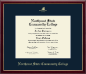 Northeast State Community College Diploma Frame - Gold Embossed Diploma Frame in Galleria