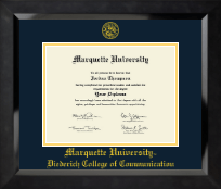 Yellow Embossed Diploma Frame