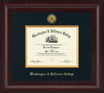 Washington & Jefferson College Diploma Frame - Presidential Gold Engraved Diploma Frame in Premier