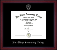 Blue Ridge Community College Diploma Frame - Silver Embossed Academy Edition Diploma Frame in Academy