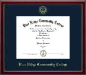 Blue Ridge Community College Diploma Frame - Gold Embossed Diploma Frame in Galleria