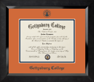 Gettysburg College Diploma Frame - Navy Embossed Diploma Frame in Eclipse