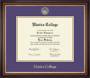 Elmira College Diploma Frame - Gold Embossed Diploma Frame in Regency Gold