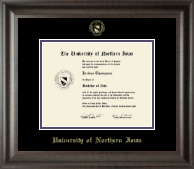University of Northern Iowa Diploma Frame - Gold Embossed Diploma Frame in Acadia