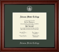 Adams State College Diploma Frame - Silver Embossed Diploma Frame in Cambridge