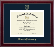 Midland University Diploma Frame - Gold Embossed Diploma Frame in Gallery