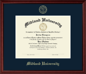 Midland University Diploma Frame - Gold Embossed Diploma Frame in Camby