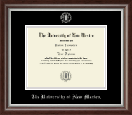 The University of New Mexico Diploma Frame - Silver Embossed Diploma Frame in Devonshire