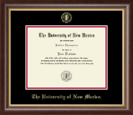 The University of New Mexico Diploma Frame - Gold Embossed Diploma Frame in Hampshire