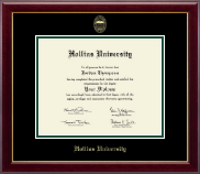 Hollins University Diploma Frame - Gold Embossed Diploma Frame in Gallery