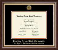 Bowling Green State University Diploma Frame - Gold Engraved Medallion Diploma Frame in Hampshire