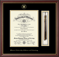 Missouri University of Science and Technology Diploma Frame - Tassel Diploma Frame in Newport