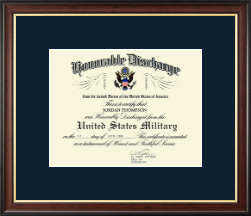 Honorable Discharge Frames Certificate Frame - Honorable Discharge Certificate Frame in Studio Gold