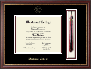 westmont college diploma frame tassel edition diploma frame in newport