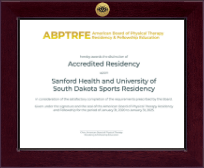 American Board of Physical Therapy Residency & Fellowship Education Certificate Frame - Century Gold Engraved Certificate Frame in Cordova