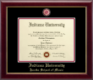 Indiana University Bloomington Diploma Frame - Masterpiece Medallion Diploma Frame in Gallery