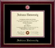 Indiana University Northwest Diploma Frame - Masterpiece Medallion Diploma Frame in Gallery