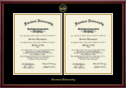 Furman University Diploma Frame - Double Diploma Frame in Galleria