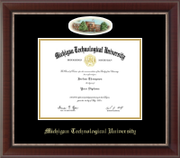 Michigan Technological University Diploma Frame - Campus Cameo Diploma Frame in Chateau