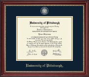 University of Pittsburgh at Bradford Diploma Frame - Masterpiece Medallion Diploma Frame in Kensington Gold