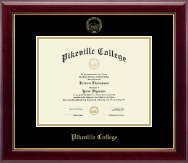 Pikeville College Diploma Frame - Gold Embossed Diploma Frame in Gallery