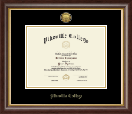 Pikeville College Diploma Frame - Gold Engraved Medallion Diploma Frame in Hampshire