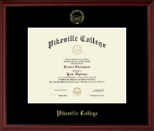 Pikeville College Diploma Frame - Gold Embossed Diploma Frame in Camby