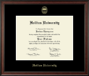 Hollins University Diploma Frame - Gold Embossed Diploma Frame in Studio