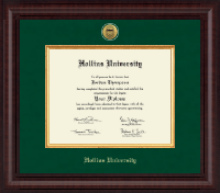 Hollins University Diploma Frame - Presidential Gold Engraved Diploma Frame in Premier