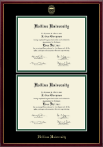 Hollins University Diploma Frame - Double Diploma Frame in Galleria