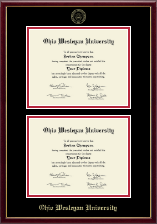 Ohio Wesleyan University Diploma Frame - Double Diploma Frame in Galleria