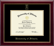 University of Illinois Diploma Frame - Gold Embossed Diploma Frame in Gallery