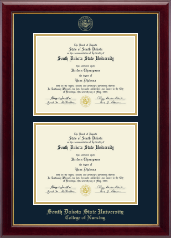 South Dakota State University Diploma Frame - Double Diploma Frame in Gallery