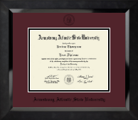 Armstrong Atlantic State University Diploma Frame - Black Embossed Diploma Frame in Eclipse