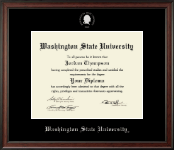 Washington State University Diploma Frame - Silver Embossed Diploma Frame in Studio